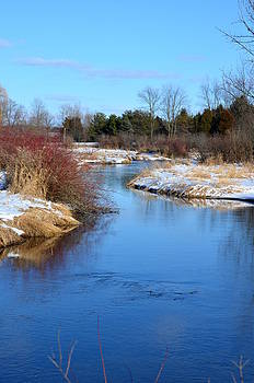 Winter River2 by Jennifer  King
