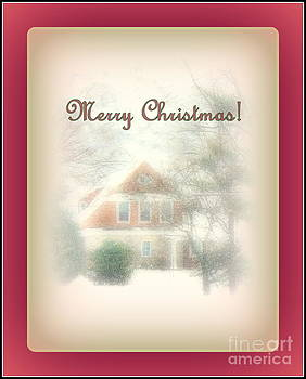 Winter Scene at Christmas by Diana Besser