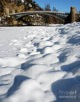 Winter Snow Craigellachie Bridge Scotland by John Kelly