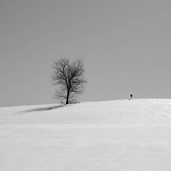 Richard Reeve - Winter - Square Sign in Mono