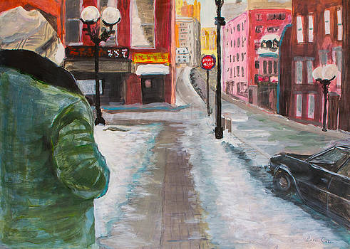 Winter Stroll in Old Montreal by Jeffrey Cohen