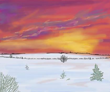 Winter Sundown by Mellisa Ward