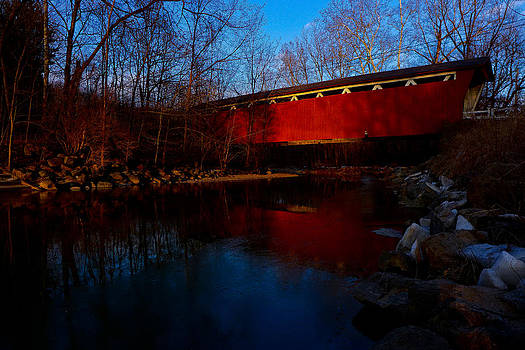 Winter Sunrise at Everett Road Covered Bridge by Jeff Picoult