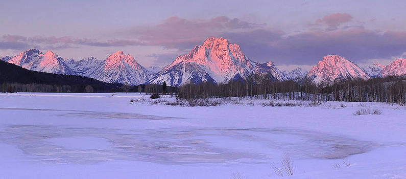 Winter Sunrise - Oxbow Bend by Stephen  Vecchiotti