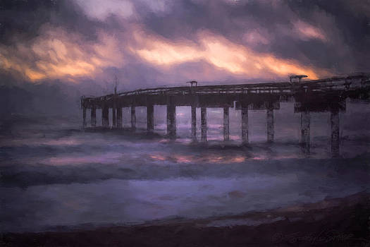 Winter sunrise St. Augustine Beach by Stacey Sather
