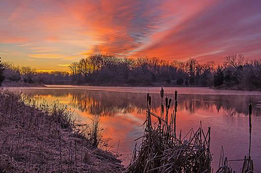 Winter sunrise by Ulrich Burkhalter