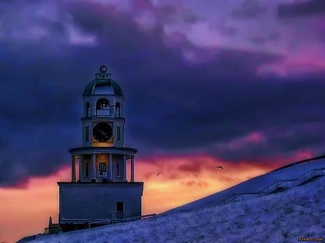 Winter Sunset  by Ken Morris