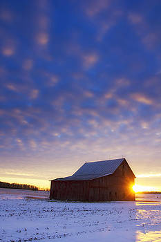 Winter Sunset on the Farm by Bailey and Huddleston