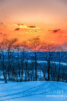 Winter Sunset Orange County NY by Tony Gliatta