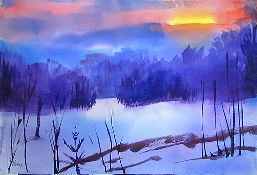Winter Sunset by Pat Percy