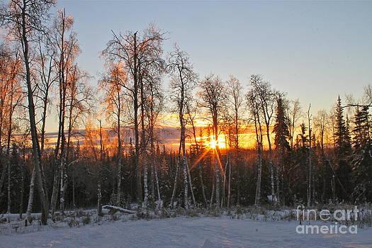 Winter Sunset by Rick  Monyahan