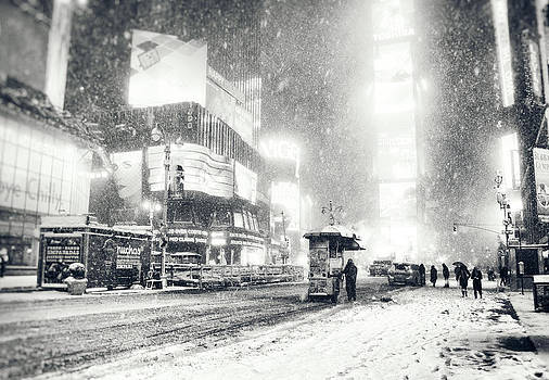 Winter - Times Square - New York City by Vivienne Gucwa