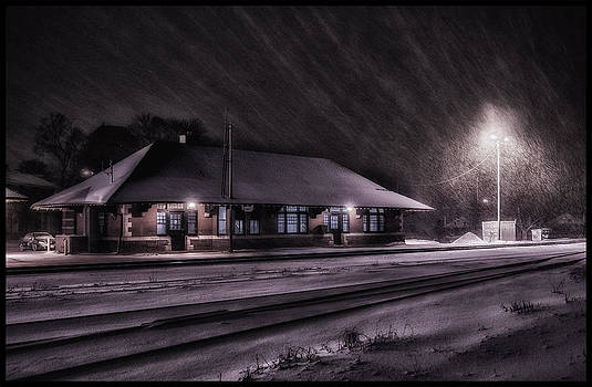 Winter Train Station  by Vincent Dwyer