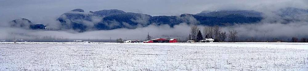 Winter Panoramic Maple Ridge, British Columbia by Ian Mcadie