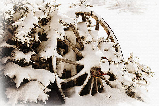 Winter Wagon Wheel by Lincoln Rogers