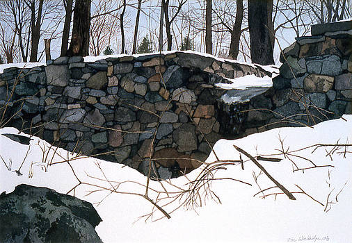 Winter Wall One by Tom Wooldridge