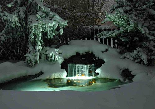 Winter Waterfall by John Moody
