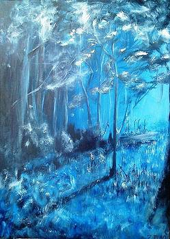 Winternight in Forest by Danas Zymonas