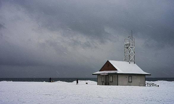 Wintertime Beach by Nicky Jameson