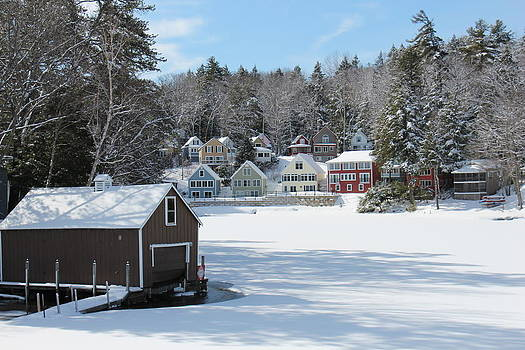 Wintery Alton Bay New Hampshire  by Jeffrey Akerson
