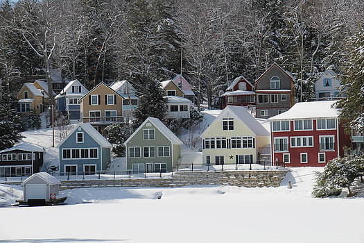 Wintery Alton Bay NH by Jeffrey Akerson