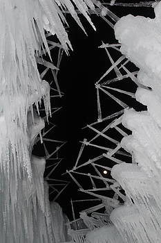 Wintery Ice Farming  by Jeffrey Akerson
