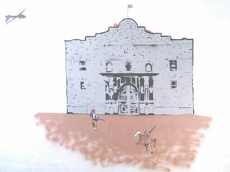 A Shit Day At The Alamo  by MERLIN Vernon