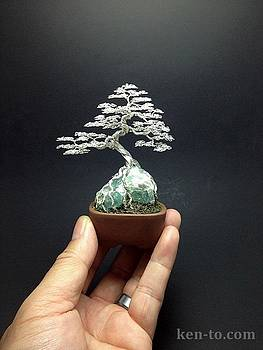Wire Bonsai Sculpture by Ken To