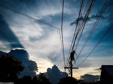 Wire sky by Kornrawiee Miu Miu