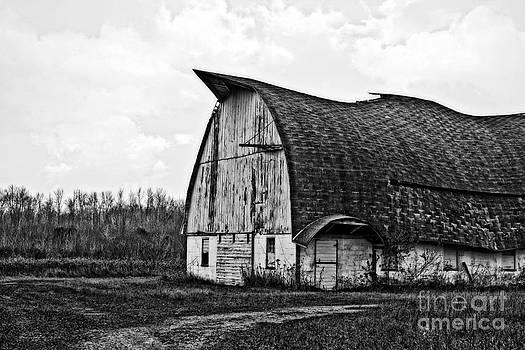 Ms Judi - Wisconsin Old Barn 1 Black and White
