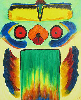 Wise Bird Totem by Phoenix The Moody Artist