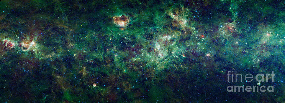 Science Source - Wise Mosaic Of The Milky Way