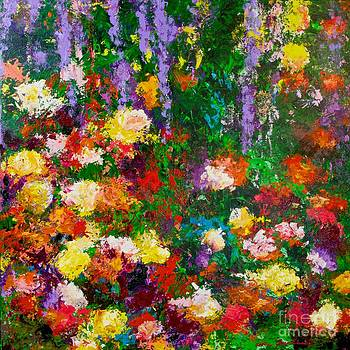 Wisteria and Roses by Allan P Friedlander