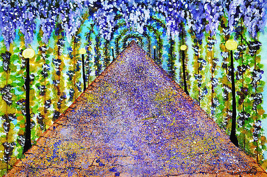 Wisteria Archway by Sherry Allen