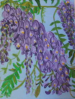 Purple Flowers by Kate Farrant