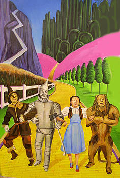 Wizard of Oz Illustration by Melinda Saminski
