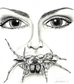 Wolf Spider Drawing  by Leandria Goodman