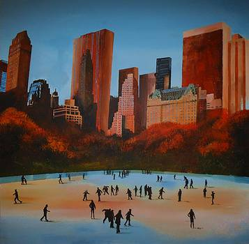 Wollman Trump Ice Rink Central Park Manhattan by Paul McIntyre