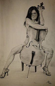 Woman and Cello by Tim Brandt