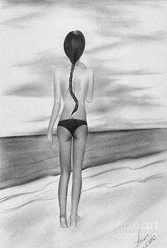 Woman and the sea  by Amjad Hossain