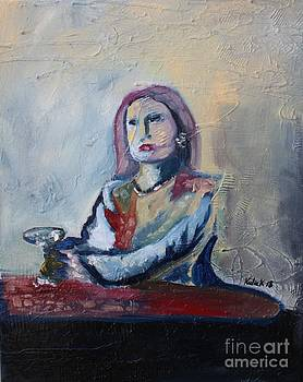 Woman at Bar by Michael Kulick