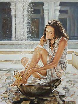 Woman Bathing 2013 by Andy Lloyd