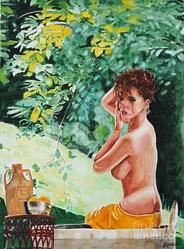 Woman Bathing by Alan Wolfram