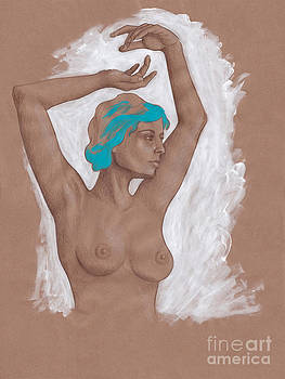 Woman Dancing Figurative Art by SL Scheibe