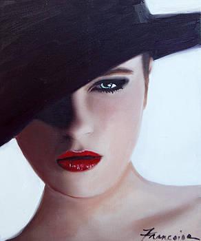 Woman in Black Hat by Francoise Lynch