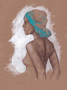 Woman in Profile Figurative Art by SL Scheibe