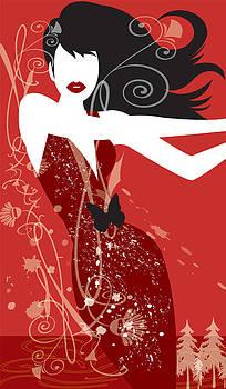 Woman in Red by Lisa Henderling