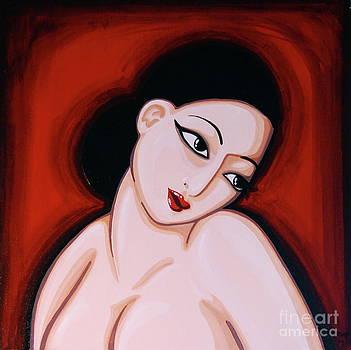 Woman in Red by Rebecca Mott