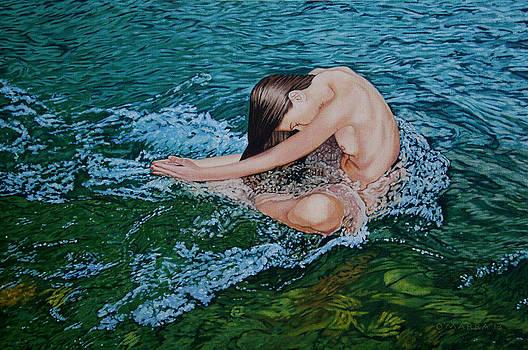 Woman in Stream by Allan OMarra