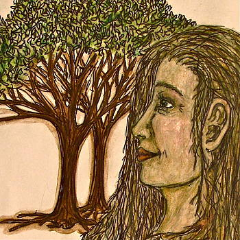 Sandy Tolman - Woman of the Forest Detail One